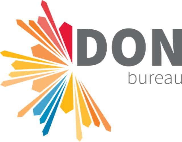 Logo donkere letters